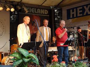 Photo: Eröffnung: (von links)  Dr. König - Vorsitzender des Freundeskreises;  Dr. Brecht - Oberbürgermeister der Stadt;  Musikdirektor J. Rieger - Intendant des Nordharzer Städtebundtheaters