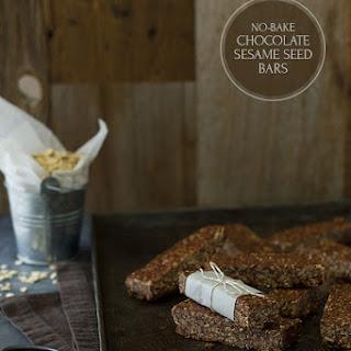 No-Bake Chocolate Sesame Seed Bars {GF}