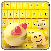 Smiley emoji keyboard