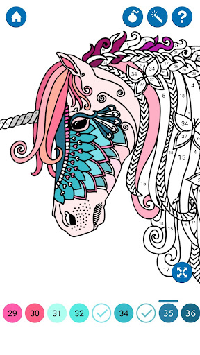 Unicorn Color by Number ss2