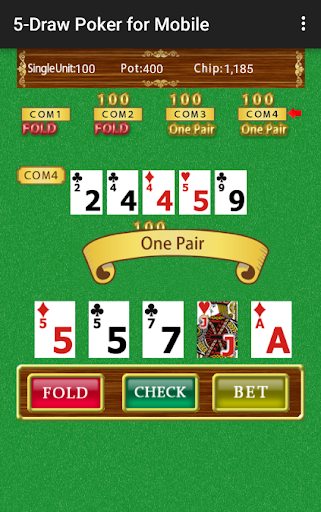 5-Draw Poker for Mobile