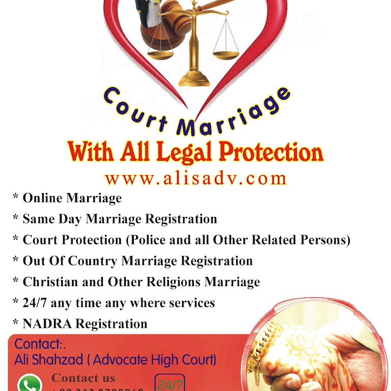 Court Marriage, Online Marriage - Lawyer in Faisalabad