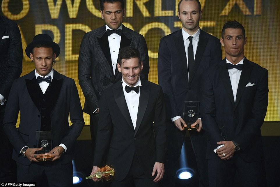 Lionel Messi announced as FIFA Ballon d'Or 2015 winner ahead of ...