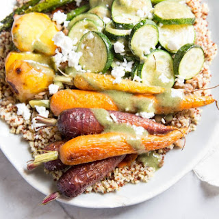 Quinoa, Lentil and Roasted Veggie Bowls