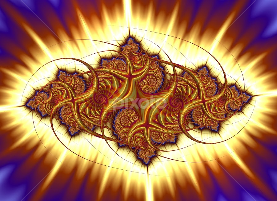 The light by Cassy 67 - Illustration Abstract & Patterns ( digital, love, harmony, fractal art, abstract art, wallpaper, spiral, electricity, abstract, hope, fractals, digital art, fractal design, swirl, classic, modern, light, fractal, lights, energy )