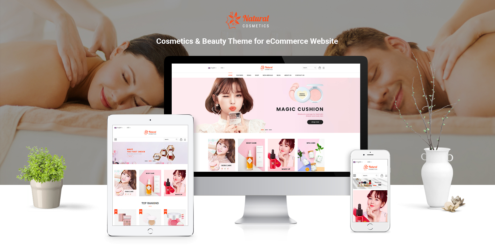 Natural - Cosmetic Magento theme
