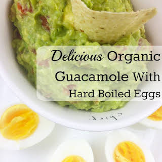 Delicious Organic Guacamole With Hard Boiled Eggs.