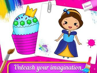 Princess Coloring Book Drawing For Kids APK Screenshot Thumbnail 1
