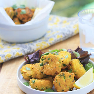 Spiced Yellow Split Pea Fritters Recipe