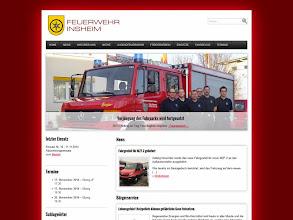 Photo: Referenz Webdesign: Freiwillige Feuerwehr Insheim (HTML5/CSS3, WordPress)