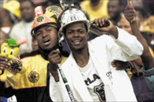Helping the needy: Kaizer Chiefs and Orlando Pirates fans will rally behind their teams in support of charity. Pic. Veli Nhlapo. 20/07/2008. © Sowetan.