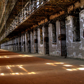 West wing by Russ Crane - Buildings & Architecture Public & Historical ( prison, hdr, mansfield, jail, abandoned, reformatory )