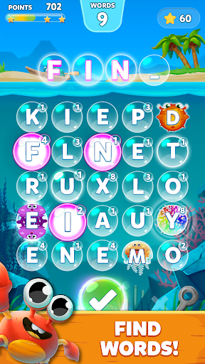 Bubble Words - Word Games Puzzle androidiapk screenshots 1
