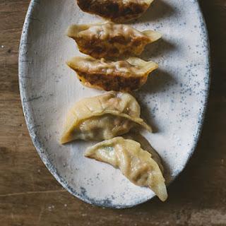 Kimchi Pork Dumplings.