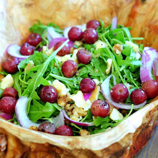 Roasted Grapes, Smoked Cheddar & Walnut Salad