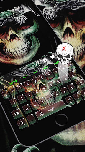 Green Skull Keyboard Theme for PC
