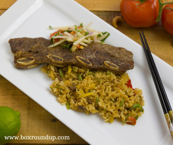Ling Ling Fried Rice with Pear Salad and Pear Marinated Short Ribs Recipe