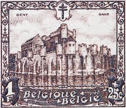 """Photo: """"Les châteaux"""" (1-12-1930). Gand."""