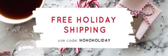 HoHoHoliday Free Shipping - Christmas Template