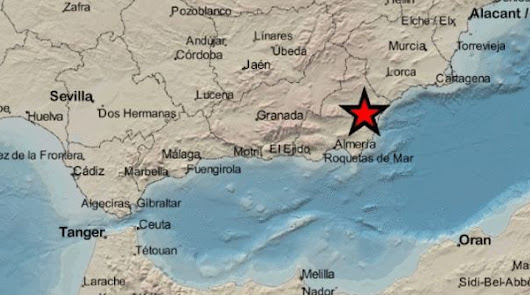Almería registra un nuevo temblor de tierra: el tercero en los dos últimos días
