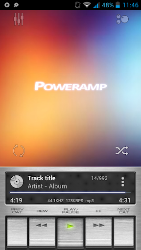 Poweramp skin Retro Metallic  screenshots 1