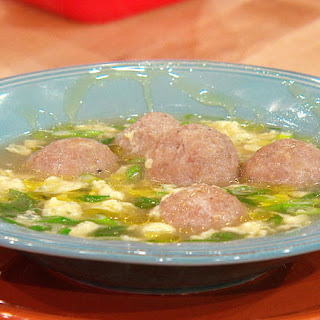 Italian Egg Drop Soup with Mini Chicken Meatballs