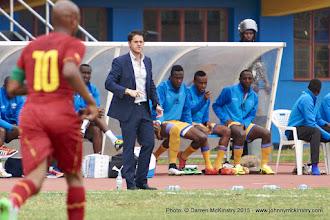 Photo: Coach McKinstry [Rwanda Vs Ghana AFCON2017 Qualifier, 5 Sep 2015 in Kigali, Rwanda.  Photo © Darren McKinstry 2015