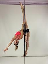 Photo: Helen Magiros - One Handed Monkey Straddle - Vertical Pole Gymnastics @ Pole Fitness Studios