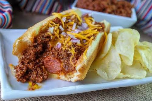 """Tonna's Hot Dog Sauce""""This is my own easy recipe for hot dog..."""