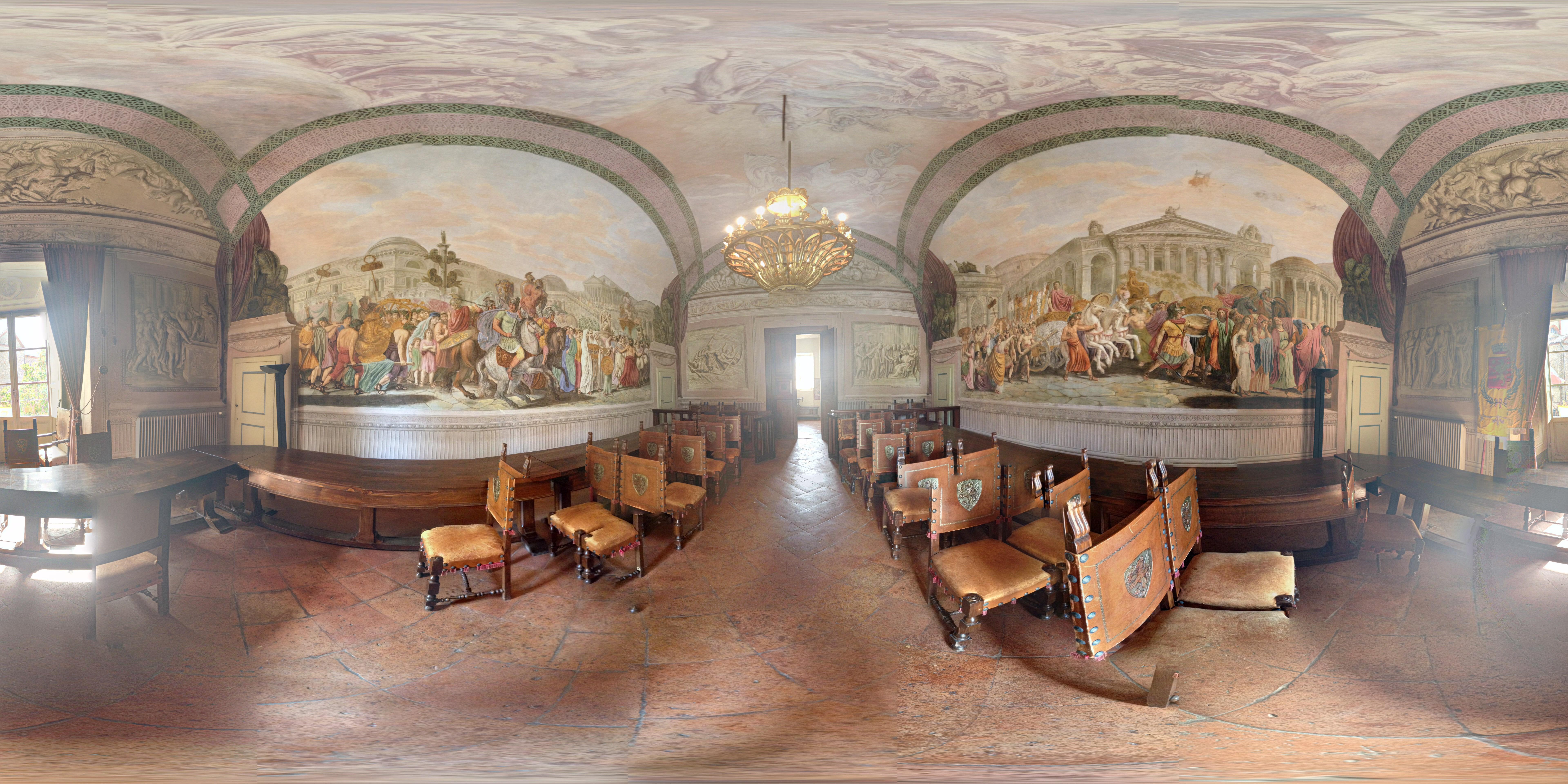 Photo: Lucignano, Sala obrad i ślubów.