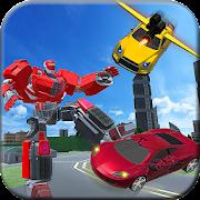 Flying Car Transform Robot City Battle