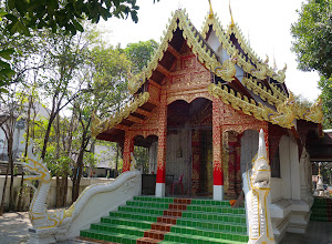 Photo: The small red temple