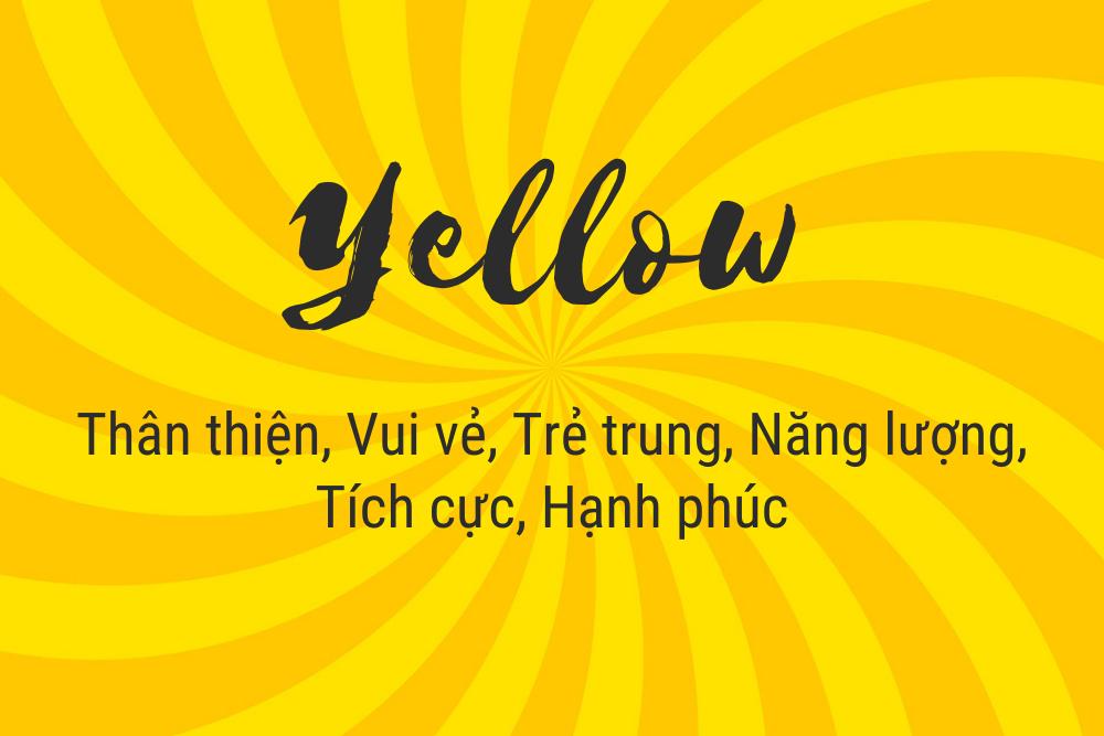 ý nghĩa màu vàng trong thiết kế logo