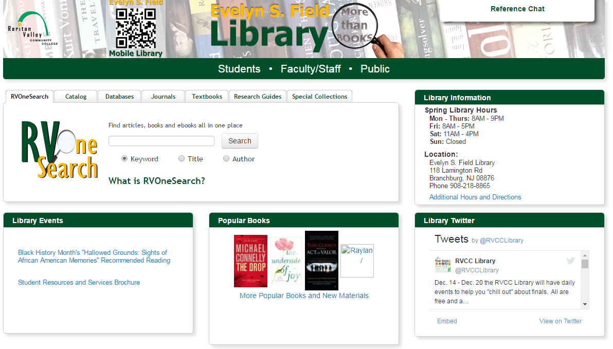 old library homepage