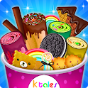 Ice Cream Rolls Maker- Rainbow Sandwich Food Stall icon