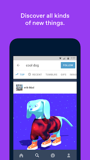 Screenshot 1 for Tumblr's Android app'
