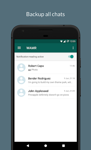 WAMR - Recover deleted messages & status download 0.7.0 beta screenshots 1