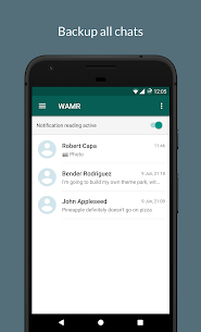 WAMR – Recover deleted messages & status download 1