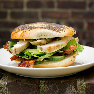 The BLC: Bacon, Lettuce and Cucumber Bagel