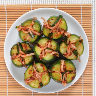 Stuffed Cucumber Kimchi (Oi Sobaegi Kimchi)