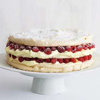 Raspberry Meringue Layer Cake