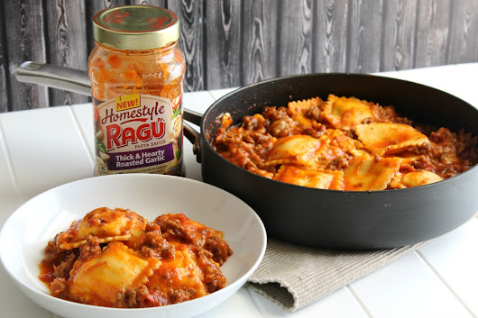 Easy 15-Minute One Pot Cheesy Ravioli with Sausage
