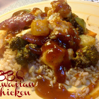 Hawaiian Barbecue Sheet Pan Chicken.