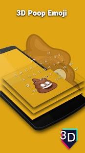 3D Poop Emoji Keyboard Theme - náhled