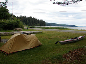 Photo: Campsite at the Shelter Point Regional Park at Harwood Point.