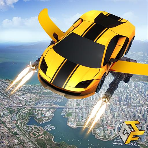 Flying Robot Car - Robot Transformation Game