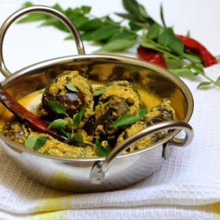 Eggplants in a Yogurt and Poppy Seed Curry