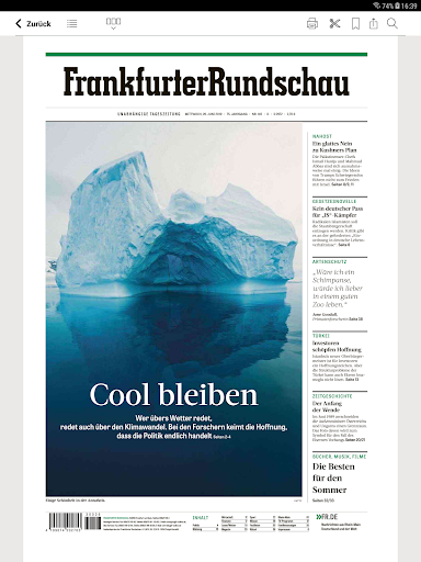 FR Digitale Zeitung - screenshot