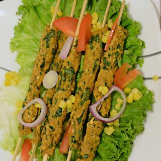 Coriander Chicken Seekh Kabab Baked