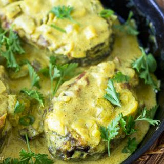 Fish in Coconut Curry Sauce.